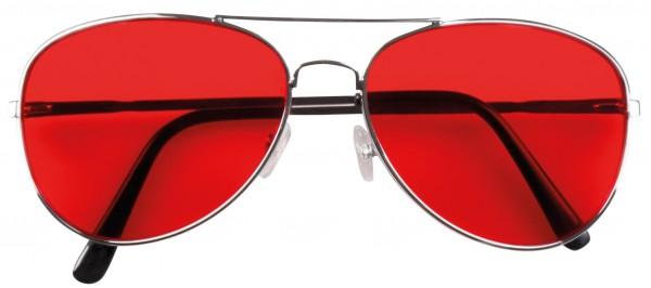 Retro Pilotenbrille Rot