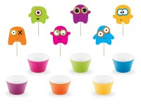 Monsterparty Cupcake Set 22-teilig