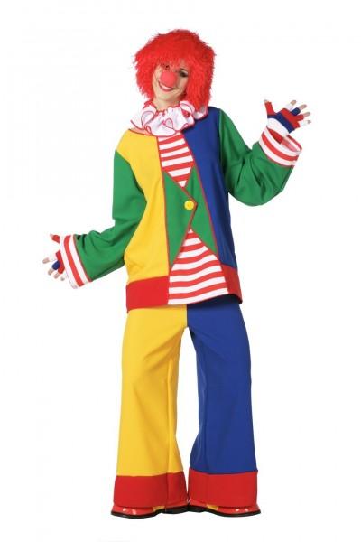 Fröhlich Flippiges Clown Damenkostüm