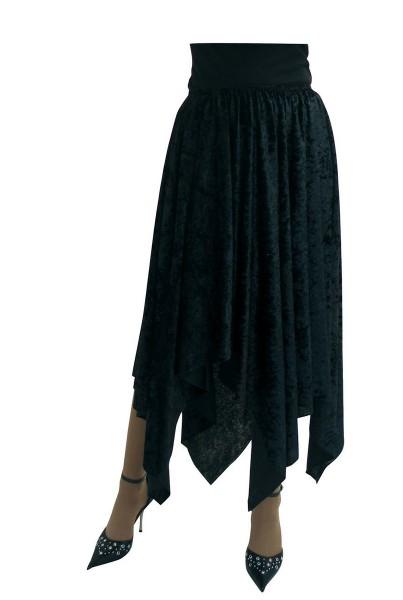 Schwarzer Zipfelrock Für Damen