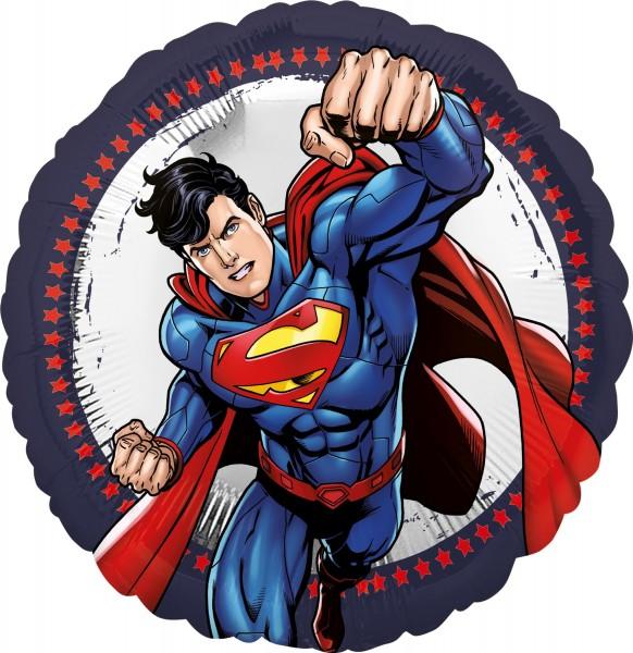 Folienballon Superman in Action rund