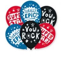 6er Set You Rock Luftballons 27,5cm