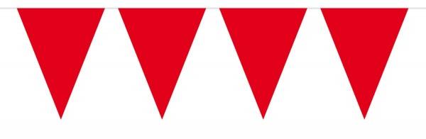 Cadena grande de banderín rojo 10m