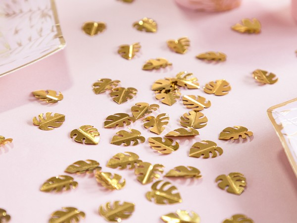 Golden Monstera Leaves Confetti 15g
