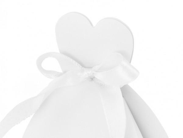 10 boîtes de mariée blanche
