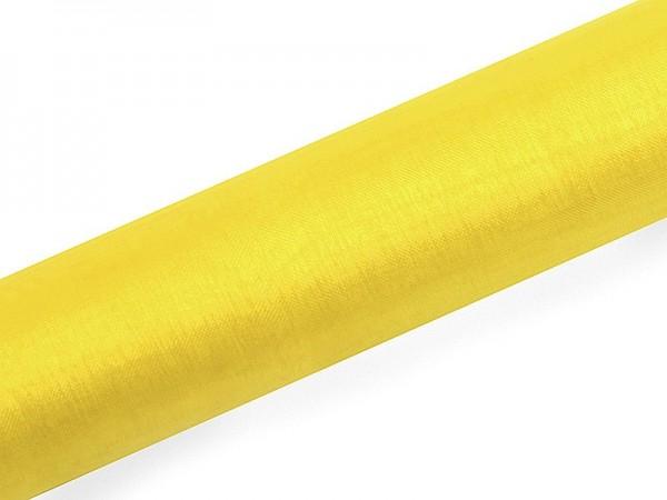 Organza fabric Julie yellow 9m x 16cm
