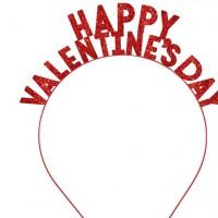 Valentinstag Schriftzug Haarreif