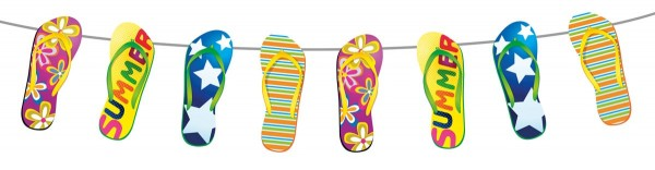 Colourful Flip Flop Garland Chain 10m