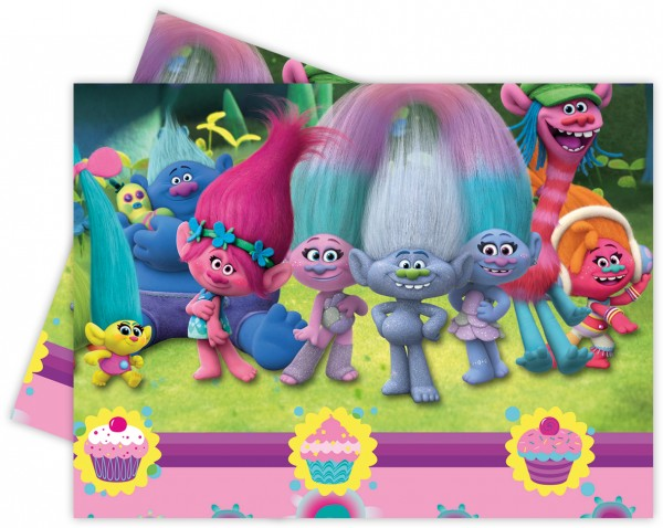 Trolls Party Kunststofftischdecke 120x180cm