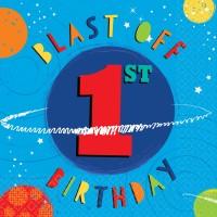 16 Space Party 1st Birthday Servietten 33cm