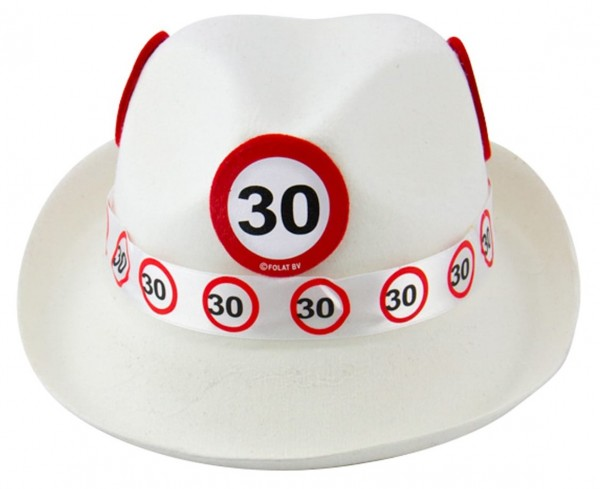 Traffic sign 30 felt hat