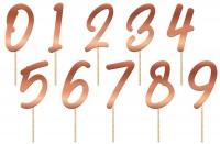 Tortendeko Zahlen 15cm Elegant blush roségold