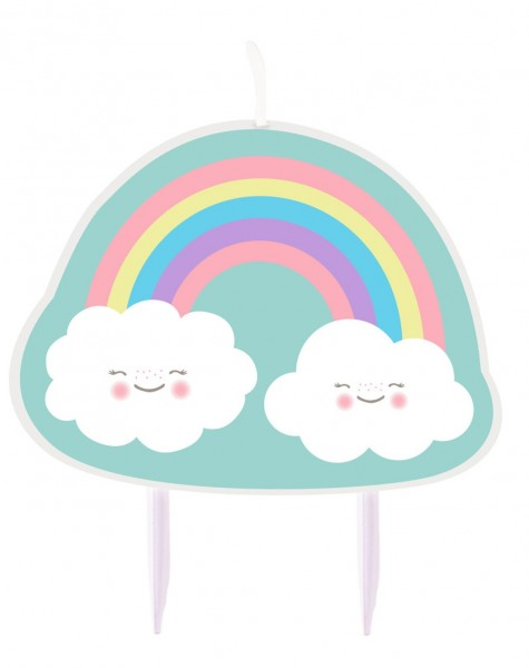 Süße Wolkenwelt Tortenkerze