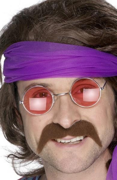Hippie snor jaren 70 stijl