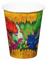 6 Pappbecher Dino Abenteuer 200ml