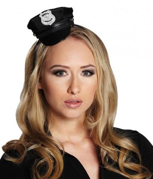 Mini Polizistenmütze Auf Haarreif
