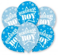 6 Amazing Birthday Boy Luftballons 27,5 cm
