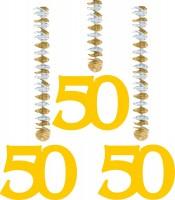 3 Spiralhänger Goldenehochzeit 50