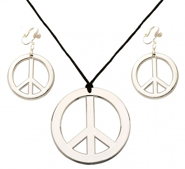 Peace chain and earring set