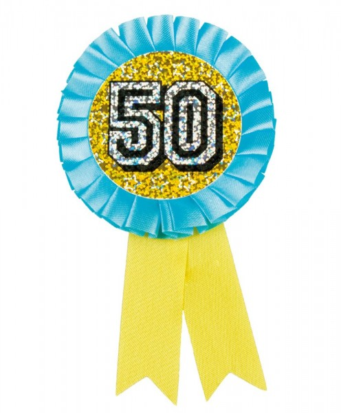 50. Geburtstag Holografische Schleifen Rosette
