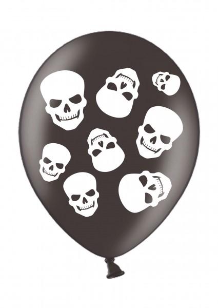 6 skull demon balloons 28cm