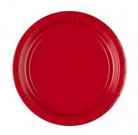 8 Pappteller Partytime Rot 22,8cm