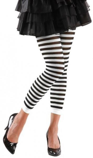 Zwart-witte legging 70 DEN