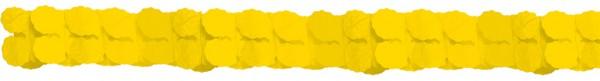 Guirlande de papier décorative jaune 3.65m