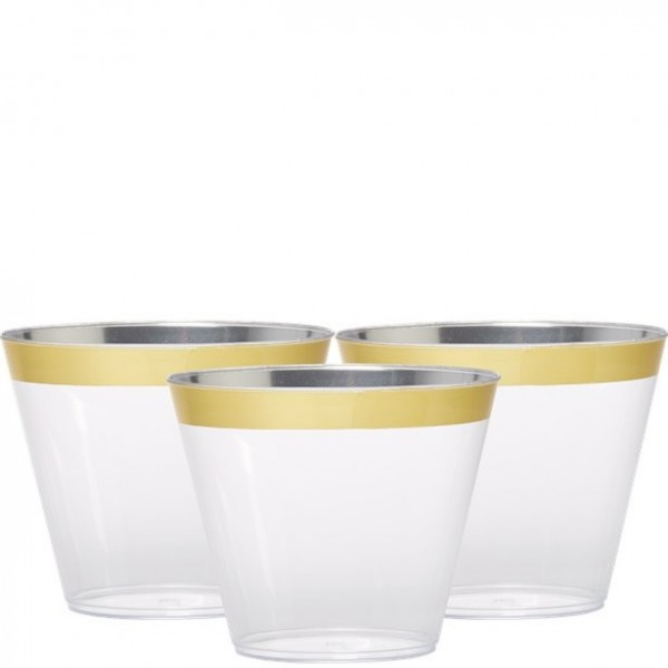 6 cups with gold decoration 256ml