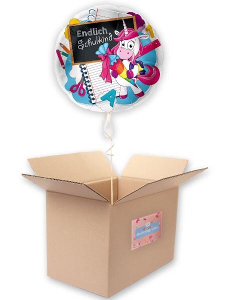 Einhorn Folienballon Endlich Schulkind 43cm