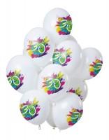 30.Geburtstag 12 Latexballons Color Splash