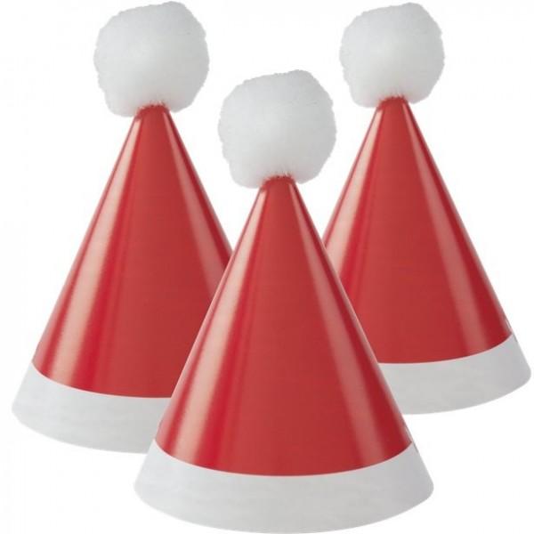 8 mini chapeaux de fête du Père Noël