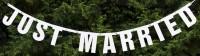 Just Married Girlande Weiß 170cm