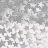Konfetti Sterne silber metallic