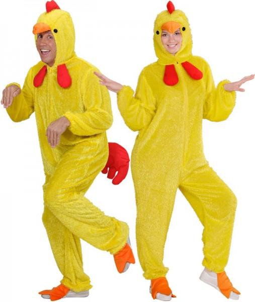 Costume in peluche di pollo fluffy unisex