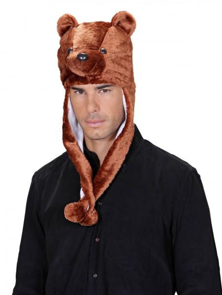 Kuschelige Bärenmütze Braun
