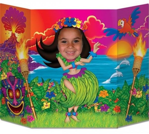 Pared de fotos Hula girl Hawaii 64cm