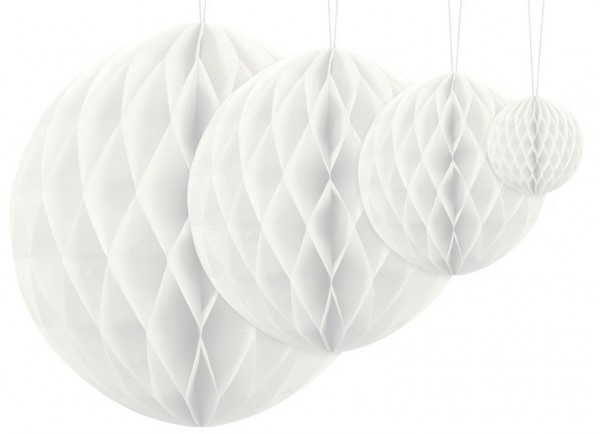 Honeycomb ball Lumina white 30cm
