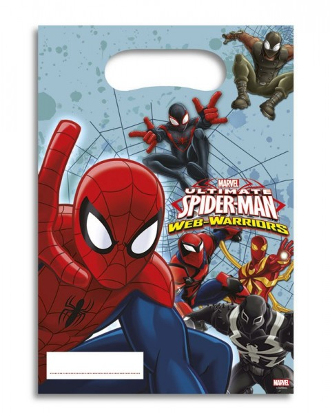 6 Spiderman Web Warriors Partytüten