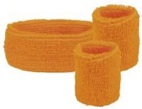 Orange Schweißbänder 3er Set
