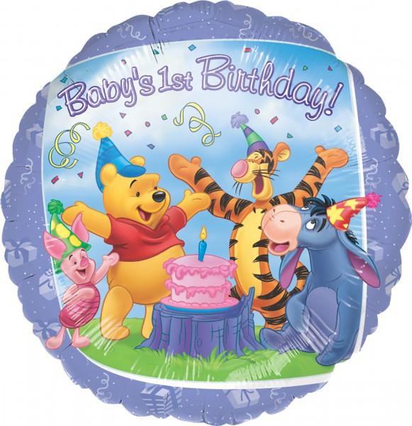 Folienballon Winnie 1st Birthday