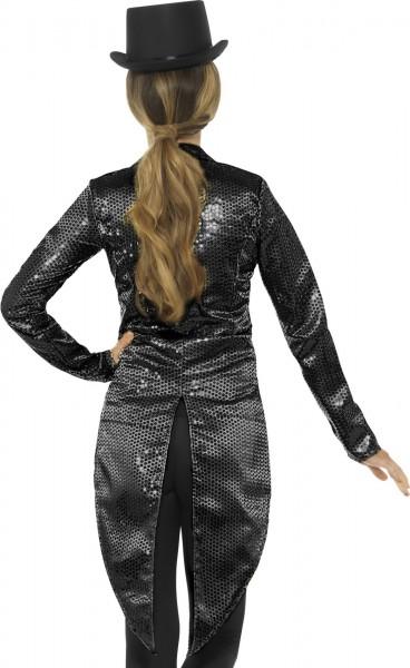 Frac de fiesta de lentejuelas en negro para mujer