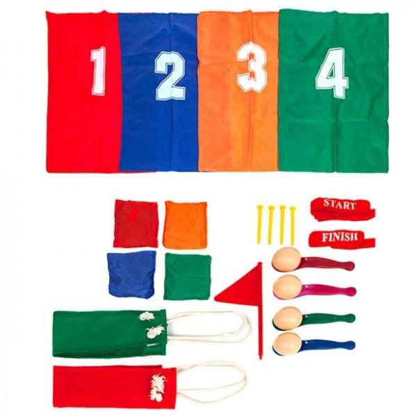 Eierlauf Sportausrüstung für 4 Kinder