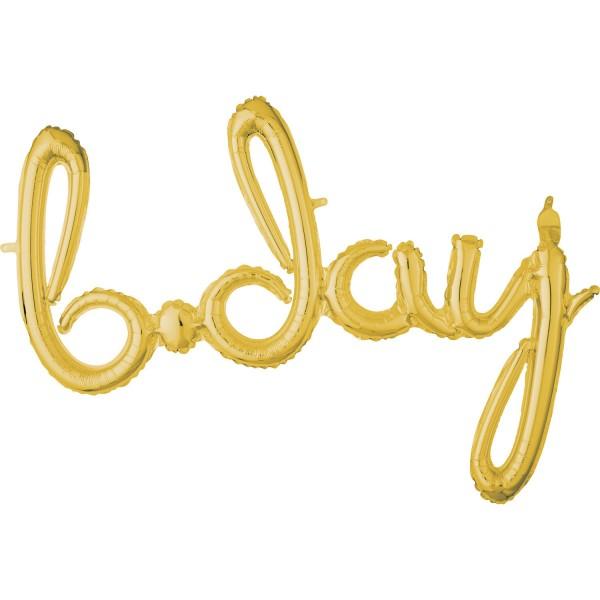 Goldener B-Day Schriftzug 93 x 68cm