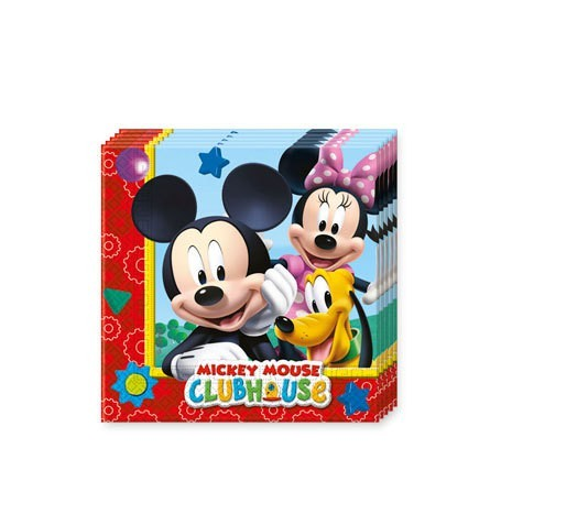 20 Mickeys Clubhouse Servietten 33x33cm