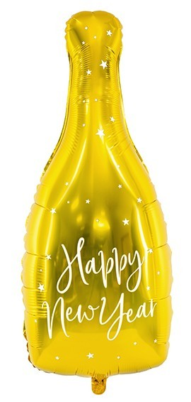 VIP New Year Champagner Folienballon 32 x 82cm