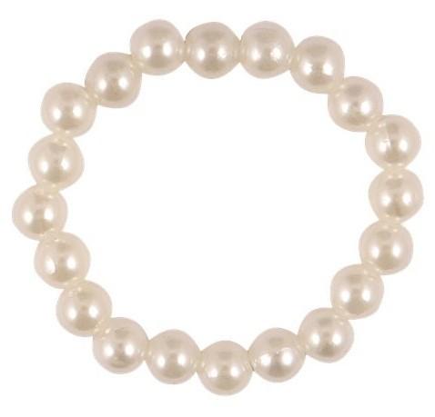 Weißes Perlenarmband Suzie
