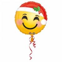Smiley avec ballon de chapeau de Noël 43cm