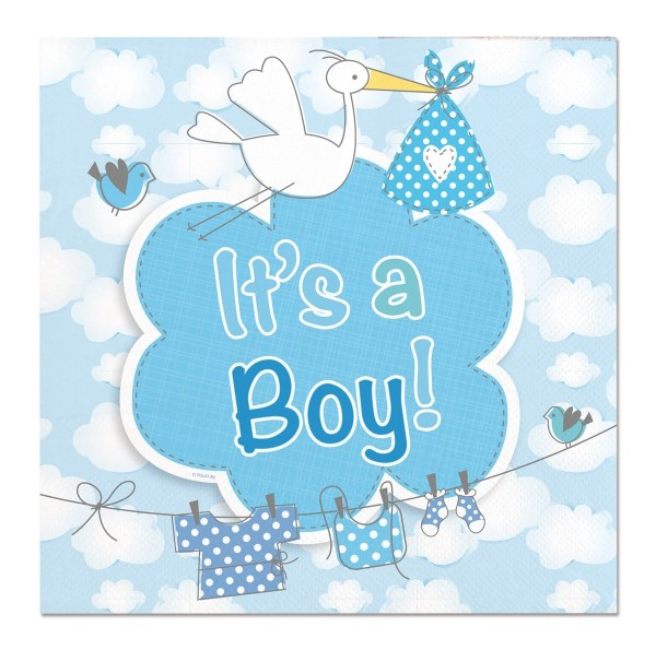 20 Servietten Adebar Its A Boy 1