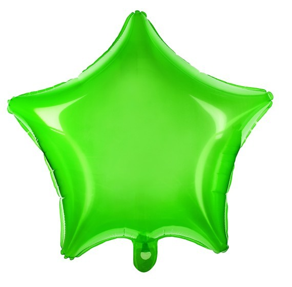 Star Balloon Neon Green 48cm